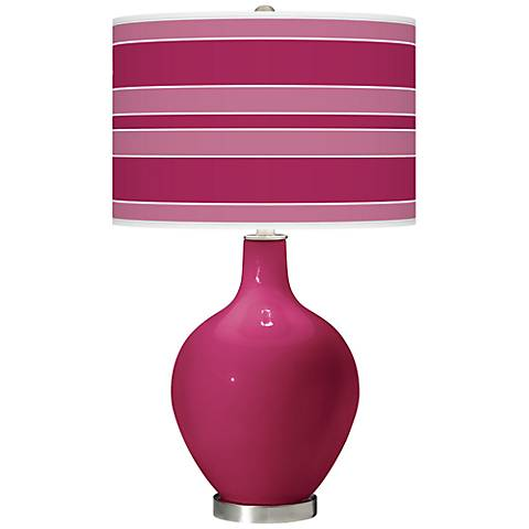 Vivacious Bold Stripe Ovo Table Lamp