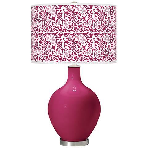 Vivacious Gardenia Ovo Table Lamp