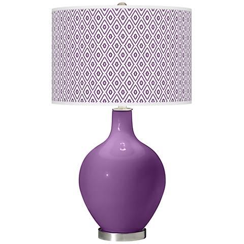 Passionate Purple Diamonds Ovo Table Lamp