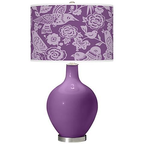 Passionate Purple Aviary Ovo Table Lamp
