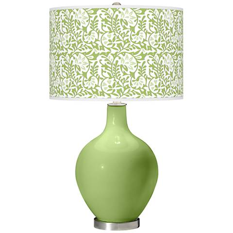 Lime Rickey Gardenia Ovo Table Lamp