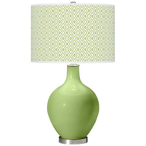 Lime Rickey Diamonds Ovo Table Lamp