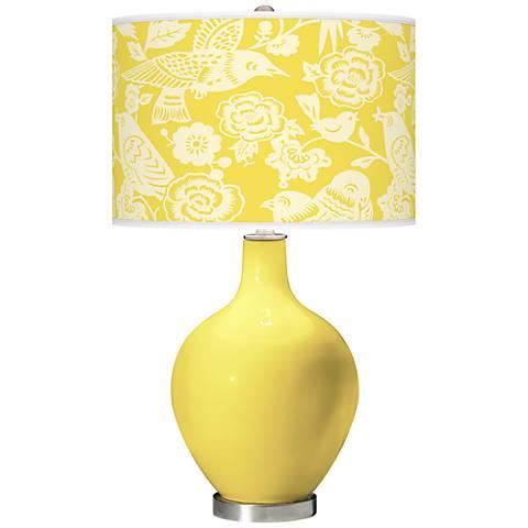 Lemon Twist Aviary Ovo Table Lamp