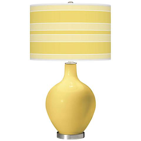 Daffodil Bold Stripe Ovo Table Lamp
