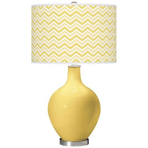 Daffodil Narrow Zig Zag Ovo Table Lamp