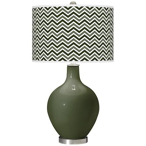 Secret Garden Narrow Zig Zag Ovo Glass Table Lamp