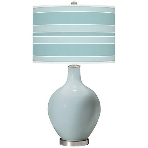 Rain Bold Stripe Ovo Glass Table Lamp