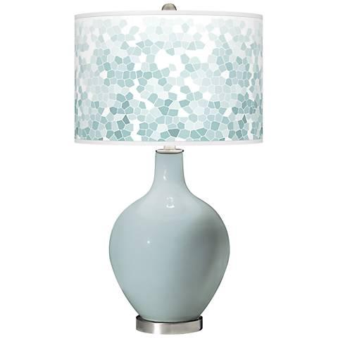 Rain Mosaic Giclee Ovo Table Lamp
