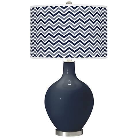 Naval Narrow Zig Zag Ovo Glass Table Lamp