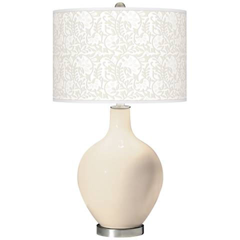 Steamed Milk Gardenia Ovo Table Lamp