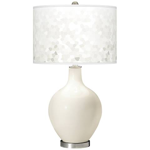 West Highland White Mosaic Giclee Ovo Table Lamp