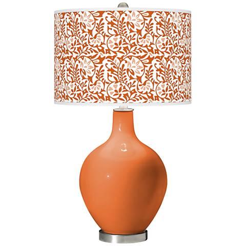 Celosia Orange Gardenia Ovo Table Lamp