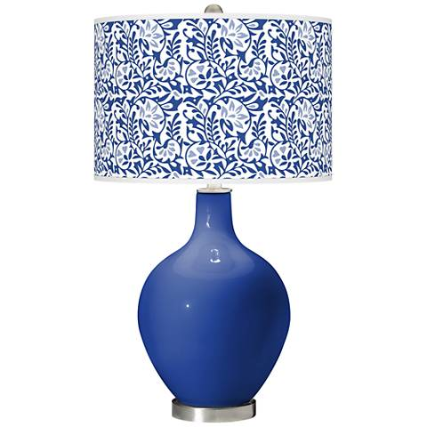 Dazzling Blue Gardenia Ovo Table Lamp