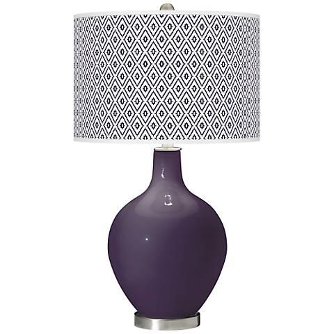 Quixotic Plum Diamonds Ovo Table Lamp