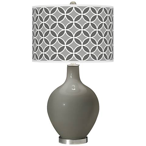 Gauntlet Gray Circle Rings Ovo Glass Table Lamp