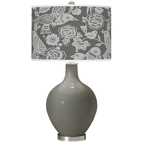 Gauntlet Gray Aviary Ovo Glass Table Lamp