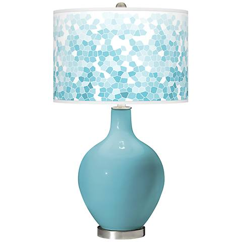 Nautilus Mosaic Giclee Ovo Table Lamp