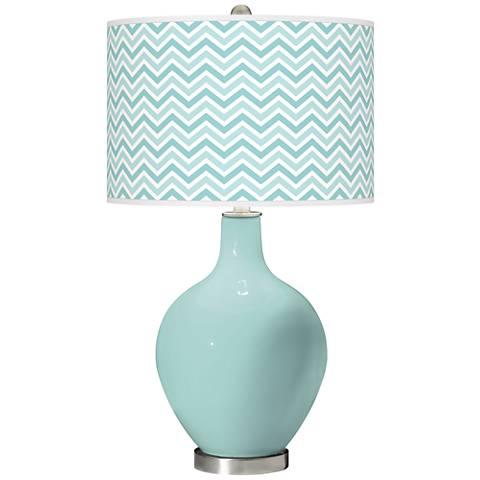 Cay Narrow Zig Zag Ovo Glass Table Lamp