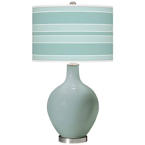 Aqua-Sphere Bold Stripe Ovo Glass Table Lamp