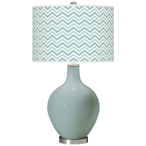 Aqua-Sphere Narrow Zig Zag Ovo Glass Table Lamp