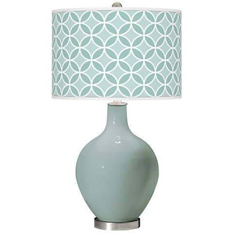 Aqua-Sphere Circle Rings Ovo Glass Table Lamp