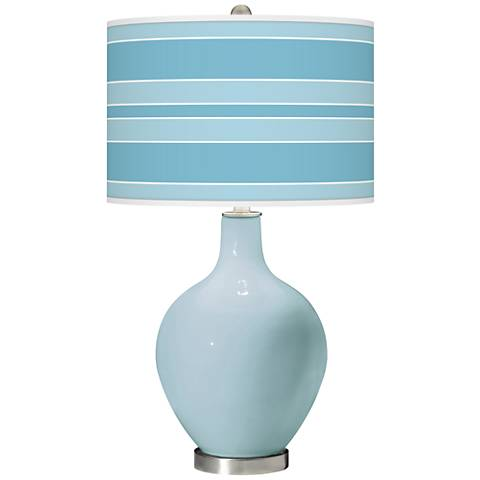 Vast Sky Bold Stripe Ovo Glass Table Lamp
