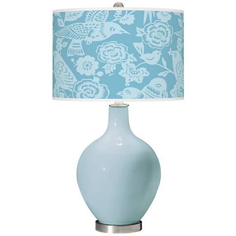 Vast Sky Aviary Ovo Glass Table Lamp