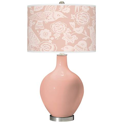 Mellow Coral Aviary Ovo Glass Table Lamp