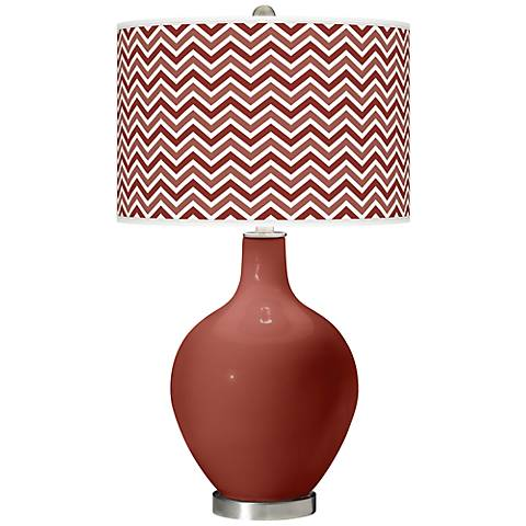 Madeira Narrow Zig Zag Ovo Table Lamp