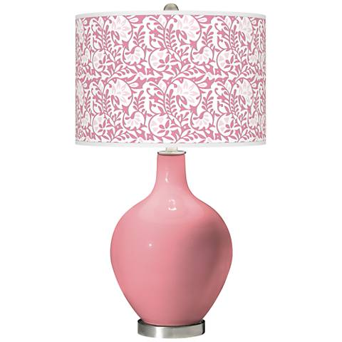 Haute Pink Gardenia Ovo Table Lamp