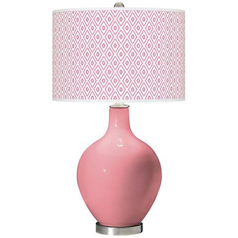 Haute Pink Diamonds Ovo Table Lamp
