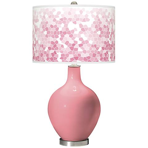 Haute Pink Mosaic Giclee Ovo Table Lamp