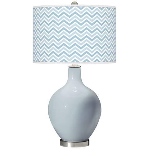 Take Five Narrow Zig Zag Ovo Glass Table Lamp