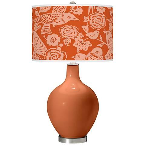 Robust Orange Aviary Ovo Glass Table Lamp