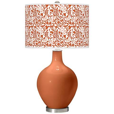 Robust Orange Gardenia Ovo Table Lamp