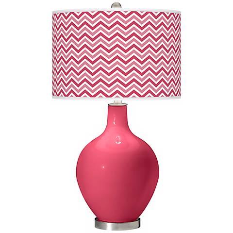 Eros Pink Narrow Zig Zag Ovo Table Lamp