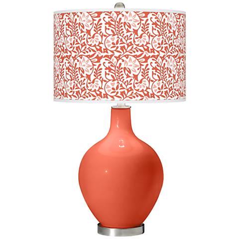 Daring Orange Gardenia Ovo Table Lamp