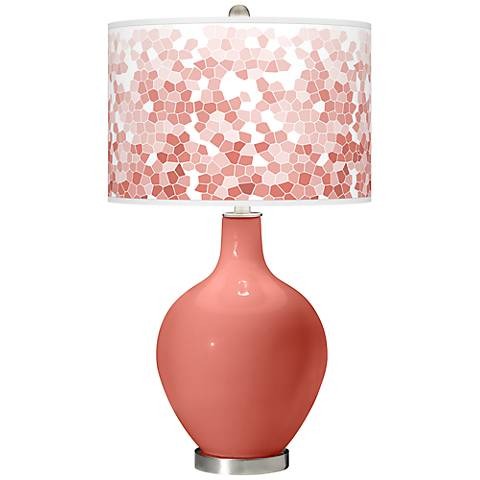 Coral Reef Mosaic Giclee Ovo Table Lamp