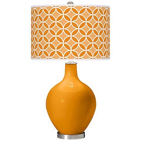 Carnival Circle Rings Ovo Table Lamp