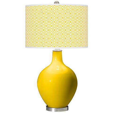 Citrus Diamonds Ovo Table Lamp