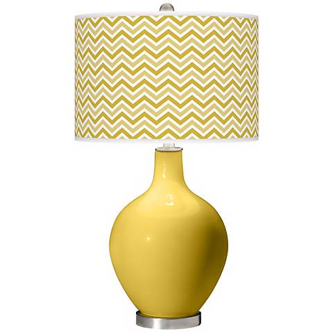 Nugget Narrow Zig Zag Ovo Table Lamp