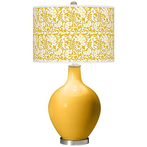 Goldenrod Gardenia Ovo Table Lamp