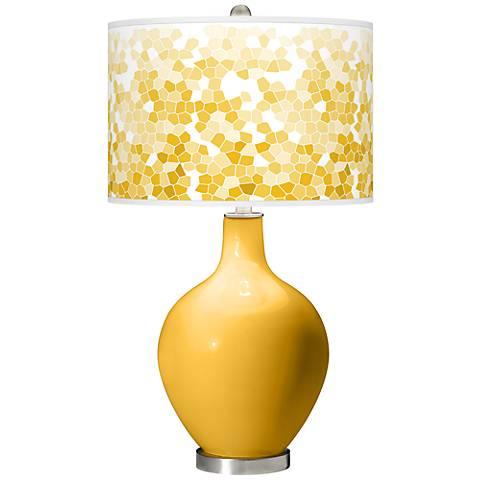 Goldenrod Mosaic Giclee Ovo Table Lamp