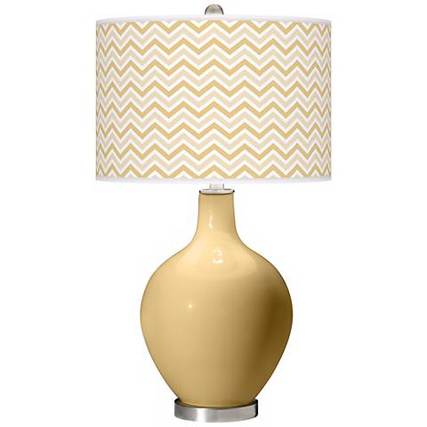 Humble Gold Narrow Zig Zag Ovo Table Lamp