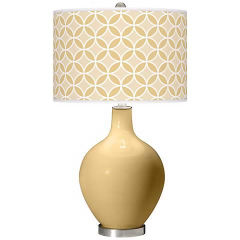 Humble Gold Circle Rings Ovo Table Lamp