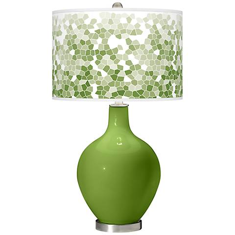 Gecko Mosaic Giclee Ovo Table Lamp