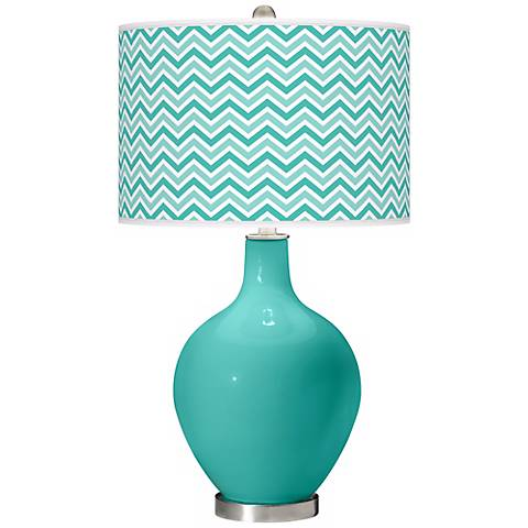 Synergy Narrow Zig Zag Ovo Table Lamp