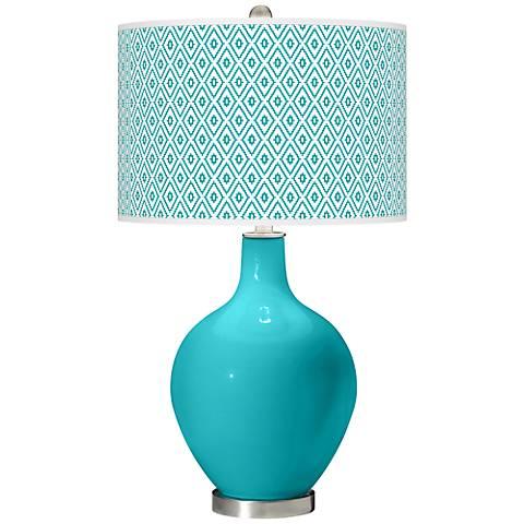 Surfer Blue Diamonds Ovo Table Lamp