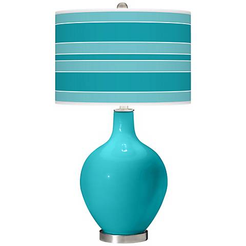 Surfer Blue Bold Stripe Ovo Table Lamp
