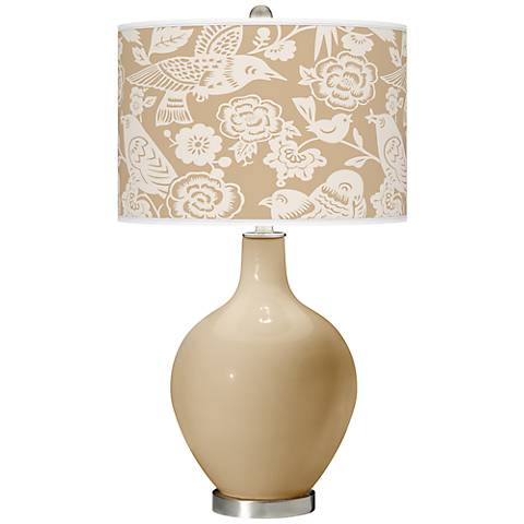Colonial Tan Aviary Ovo Table Lamp